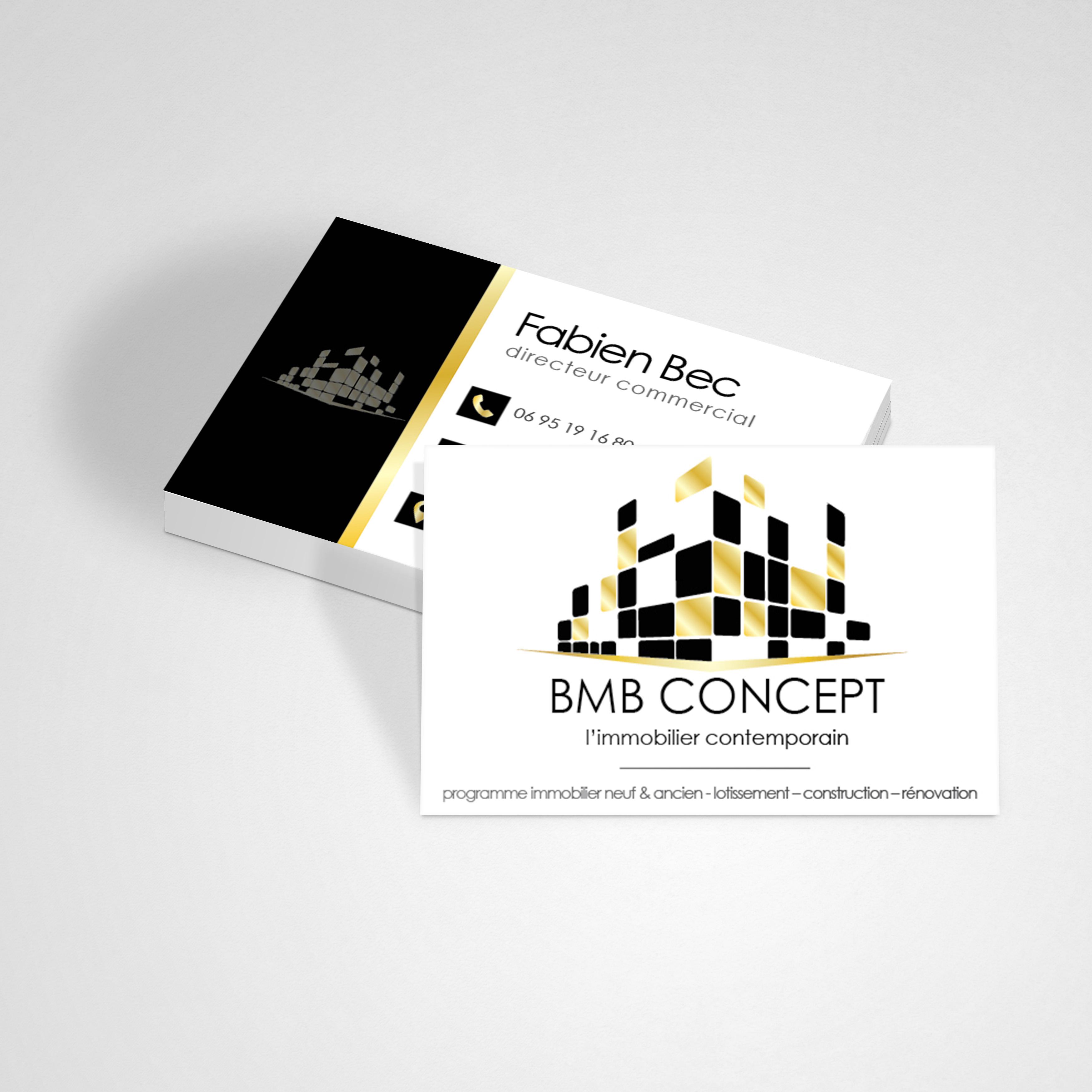 Carte Visite BMB Concept Ourea Design